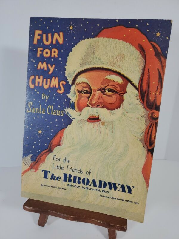 Vintage Christmas Giveaway Booklet Fun for My Chums The Broadway Dept Store 1932