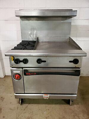 Vulcan G36fl Gas Oven Grille 2 Burner Range Overshelf Tested