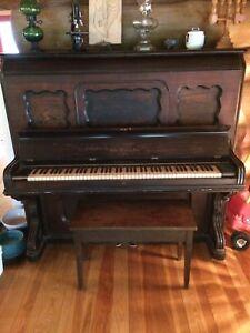 Piano Antique Behr Bros New-York (1882)