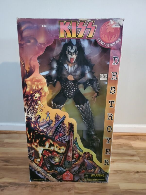"""KISS 24"""" doll Gene Simmons KISS Destroyer Limited edition collectible #003806"""