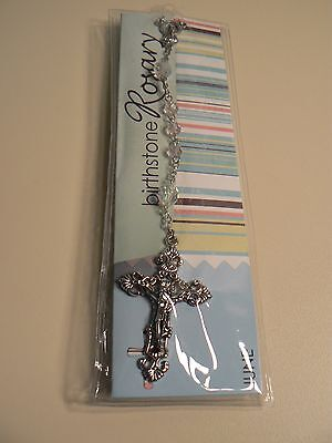 "Grasslands Road BIRTHSTONE ROSARY JUNE 21"" Long New in Package Instructions"