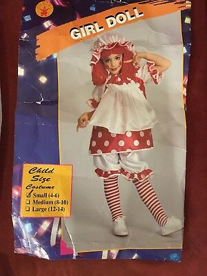 Girl Doll Child Size Smal  4-6 HALLOWEEN CUSTOM - Kids Halloween Customes