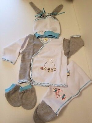 ToryBaby Infant Clothes Set Boy 0- 3 Months Baby 100% Cotton Anti-Allergic