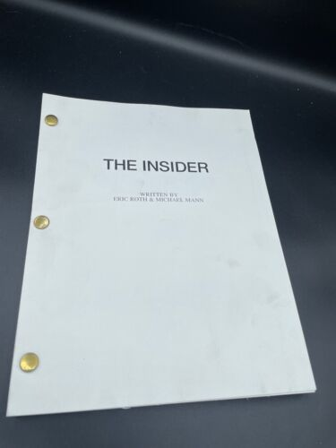 FOR YOUR CONSIDERATION BEST SCREENPLAY COPY THE INSIDER
