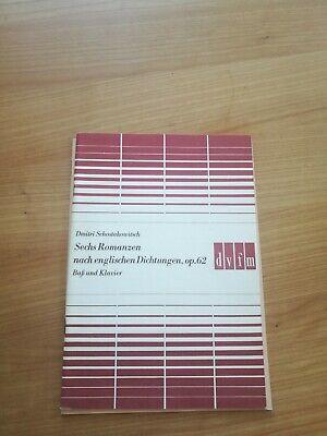 Noten. Schostakowitsch. Sechs Romanzen nach englischen Dichtungen op. 62.