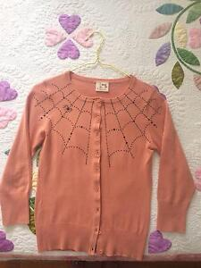 'Mischief Made' Cardigan with Spider and Web Pattern Size 6/8 Woolloomooloo Inner Sydney Preview