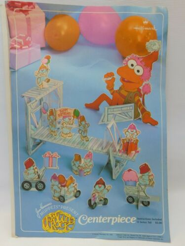 Rare Vtg Fraggle Rock Doozers Party Centerpiece Hallmark Set Henson 1983 OPEN