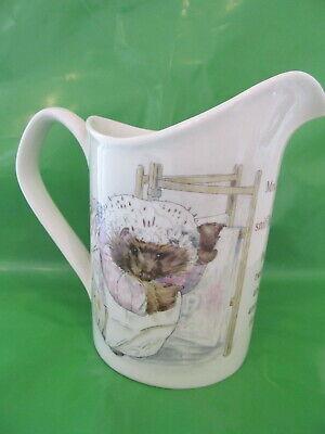 Wedgwood & Barlaston Mrs Tiggy Winkle Beatrix Potter pitcher 4 1/2