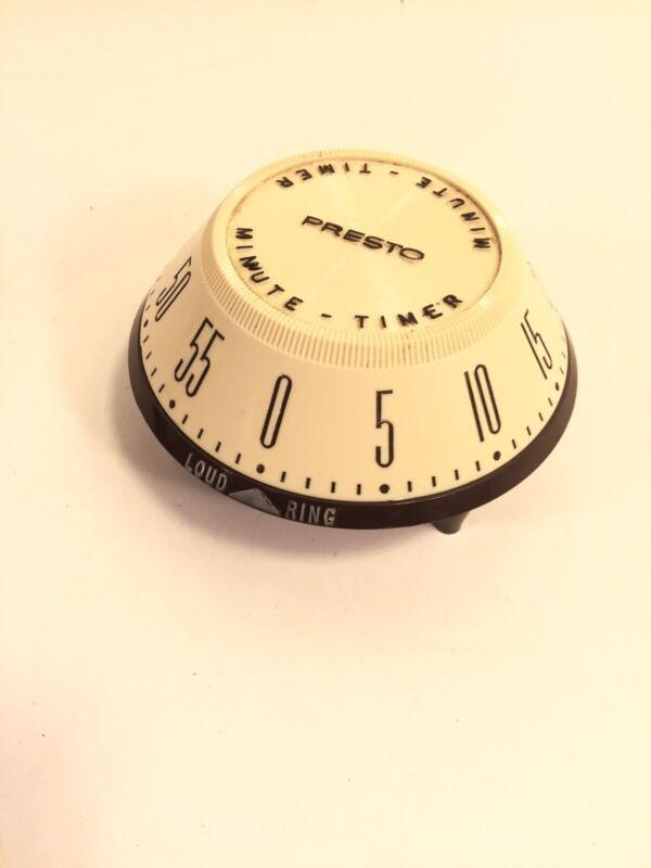 Vintage Mid Century Rare Atomic Style Presto Loud Ring Kitchen Timer