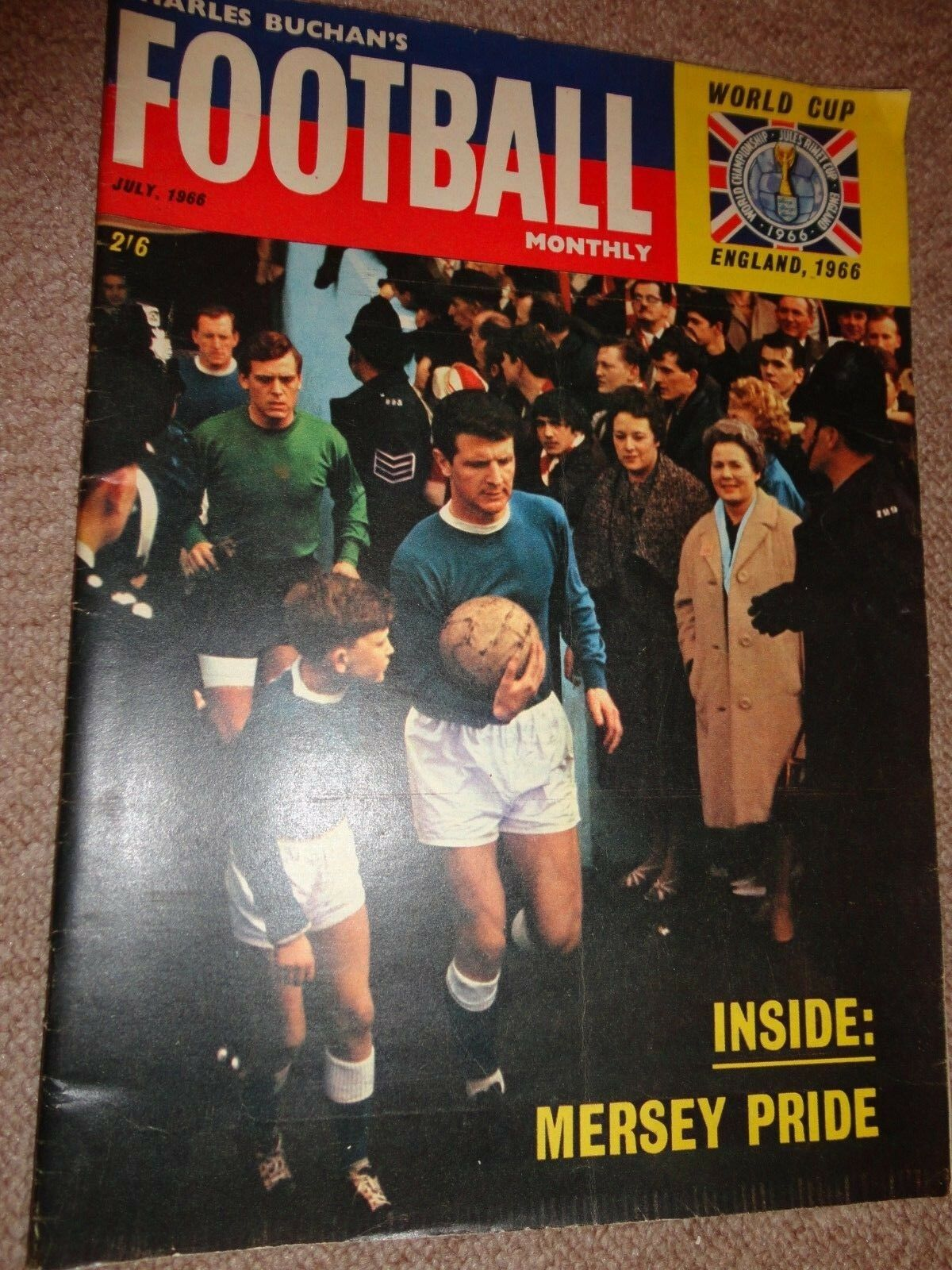 magazine charles Buchan's Football 1966 world cup issue 179 mersey pride yeats
