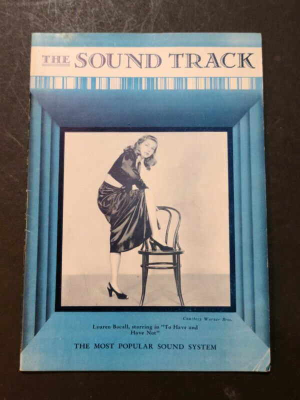 LAUREN BACALL HUMPHREY BOGART THE SOUND TRACK INDUSTRY MAGAZINE c1944