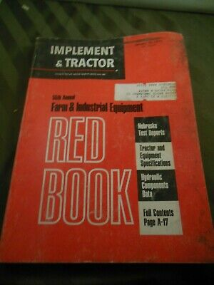 1971 Farm Tractor And Implement Red Book