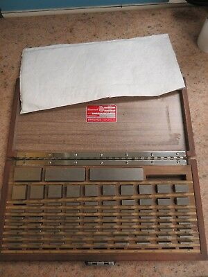 Starrett Webber - 80 Piecesquare English Gage Block Set In Case Grade A - Nb6