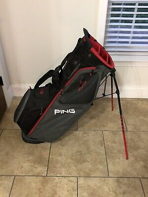 2019 Ping Hoofer Stand Bag Black/Red/Gray