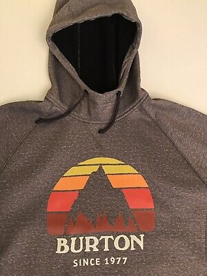 Burton Grey Snowboarding Dryride Sweat Top Vgc Size S