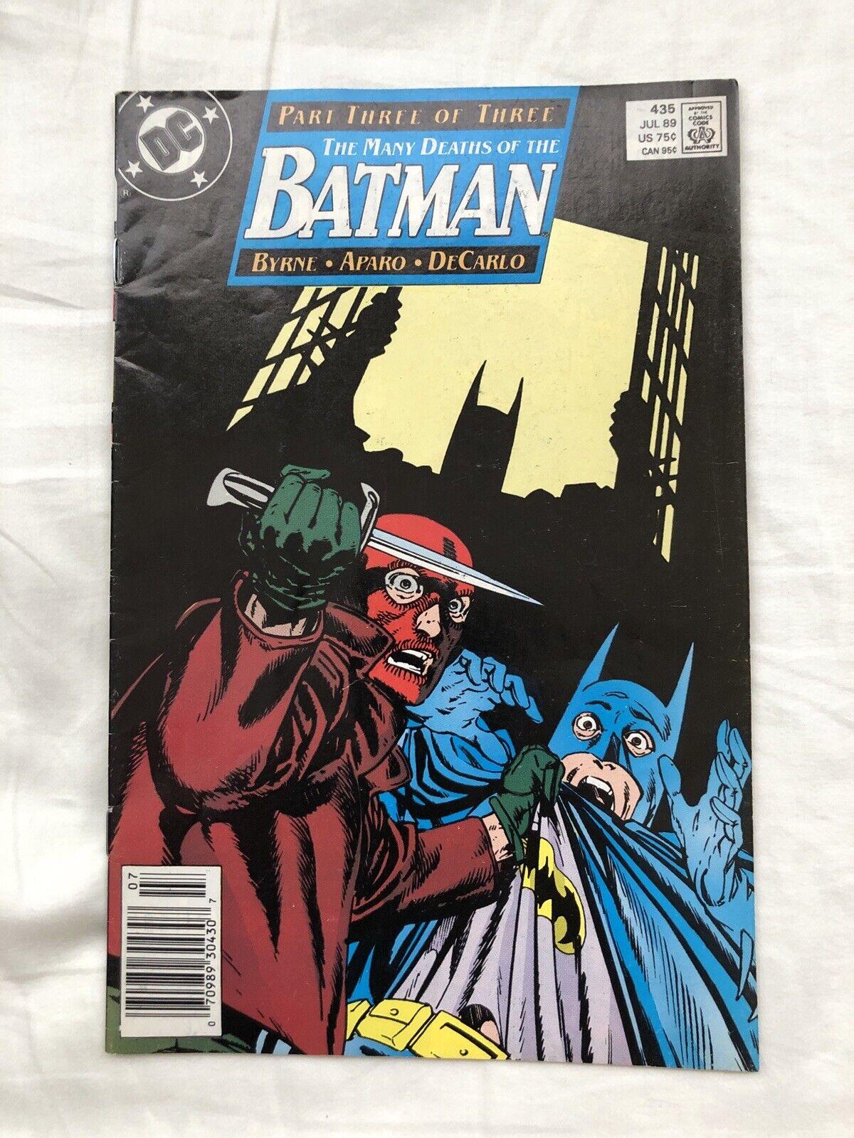Batman 435 VF 1989 DC Comic Book - $0.49