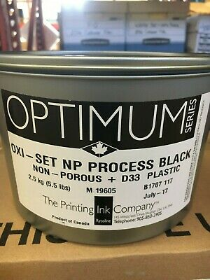 The Printing Ink Offset Oxi-set Black 5.5lb Can