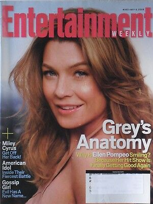 Ellen Pompeo   Greys Anatomy May 9  2008 Entertainment Weekly Magazine