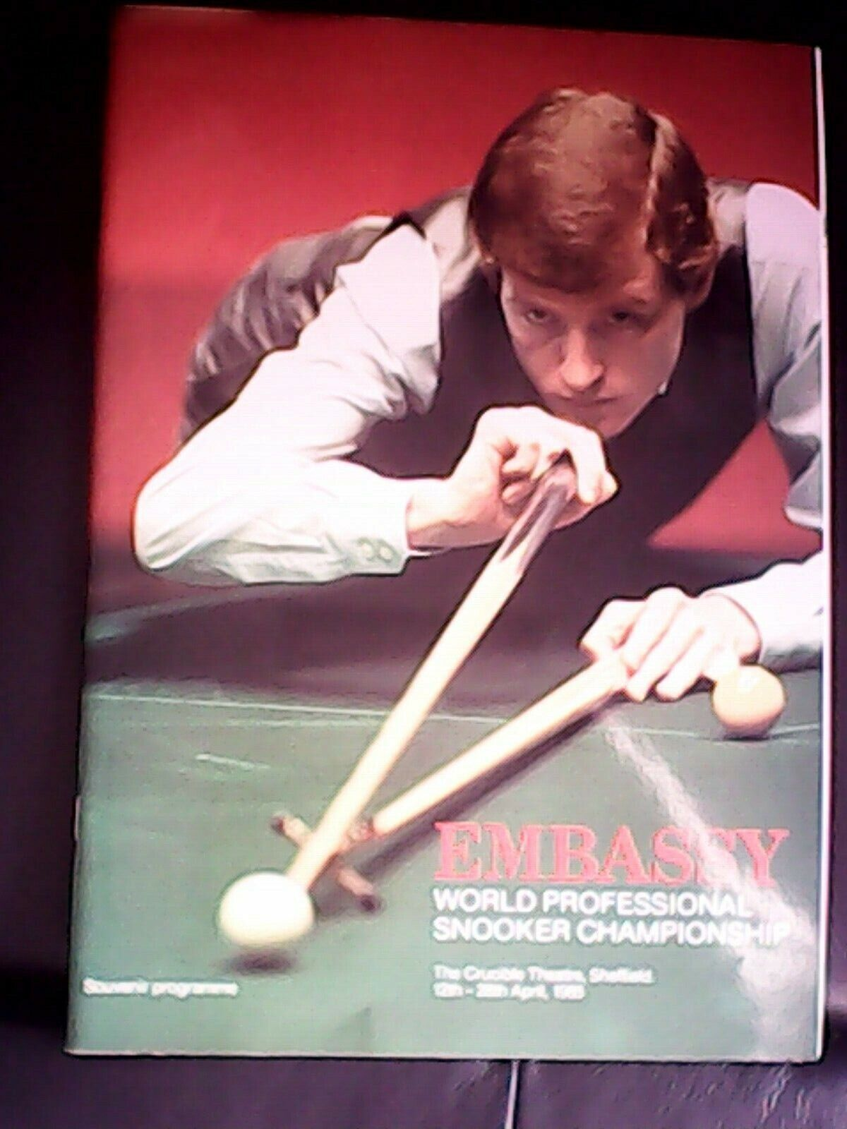WORLD SNOOKER PROGRAMME 1985 WITH OUTER SLEEVE