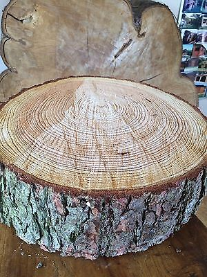 """16"""" (40cm) Rustic Log slice x 4"""" thick,  Wooden Wedding cake stand, centerpiece,"""