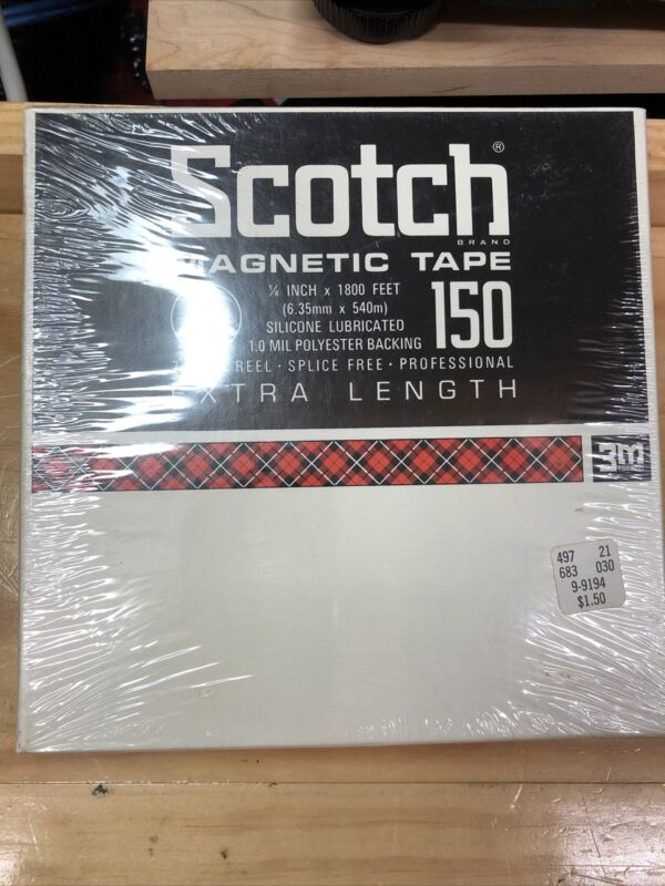 """Scotch 150 Reel to Reel """"Extra Length"""" Tape 1800"""