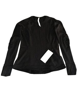 Lululemon Runderful Long Sleeve Size 10 Black