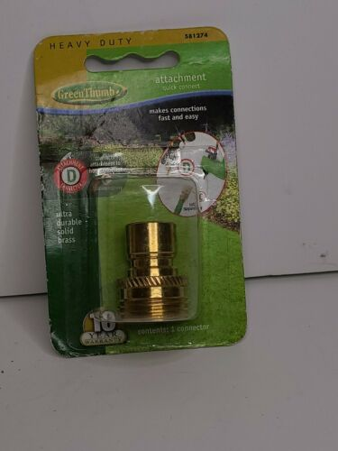 Green Thumb Solid Brass Male Quick Connect Attachments #5812