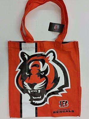Nfl Cincinnati Bengals Reusable Canvas Shopping Tote  New