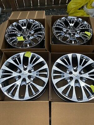 "Chevy Cadillac Escalade GM 2007-2014 Chrome 22"" OEM Set of 4 Wheels Rims"