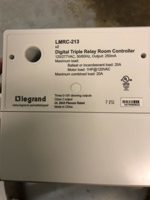 New Wattstopper Legrand LMRC-213 Digital Dimming 3 Relay Room Controller.