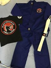 black dragon kai karate outfit and t-shirt size 5 to 7 Munruben Logan Area Preview