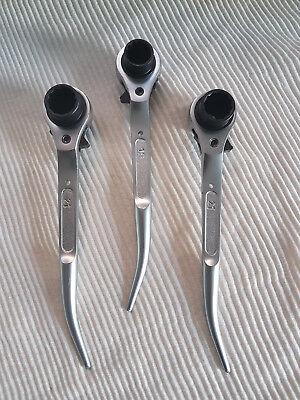 Scaffolding Spanner Ratchet Podger 10 Steel 19mm 21mm Scaffold Wrench