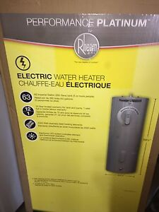 Brand new Rheem 63 gallon water heater
