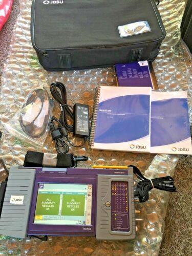 NEW JDSU Acterna FST-2000 Test Pad JDSU Fireberd 8000 w/ Charger, Pan, Case ---