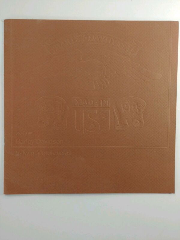 Harley Davidson AMF V-Twin Motorcycles 1977 Brochure Booklet with 20 pages