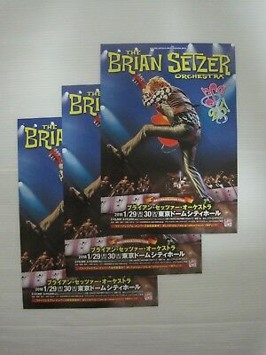 3 lots! BRIAN SETZER ORCHESTRA 2018 JAPAN LIVE Flyer Mini Poster STRAY CATS