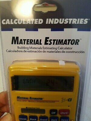Calculated Industries - Material Estimator Calculator Construction Brand New