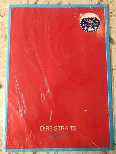DIRE STRAITS -  ON LOCATION WORLD TOUR 1980/81 Program Book Old NEW SEALED!!