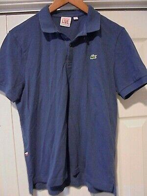 Mens Lacoste LIVE Short Sleeved Polo Shirt Size  EU 5  Blue