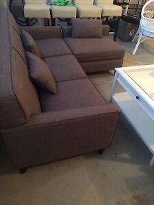 Beautiful grey urban barn couch with chaise