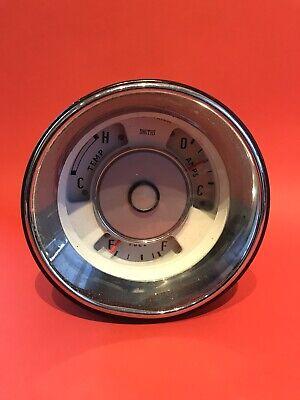 Triumph 2000 Smiths Gauge. White. Temp/Amps/Fuel. IP 3226/02
