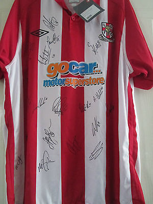 Lincoln City 2010-2011 Squad Signed Home Football Shirt with coa /39474 image