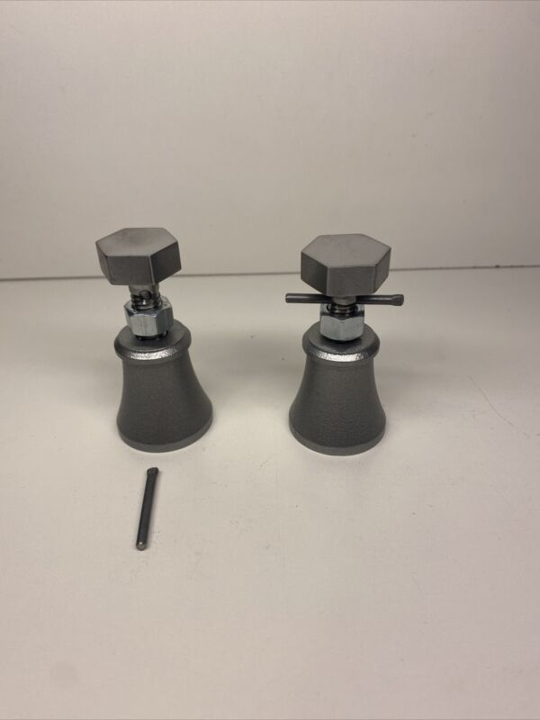 Machinist jacks lot of 2; 1018 steel powder coated raw steel made in USA