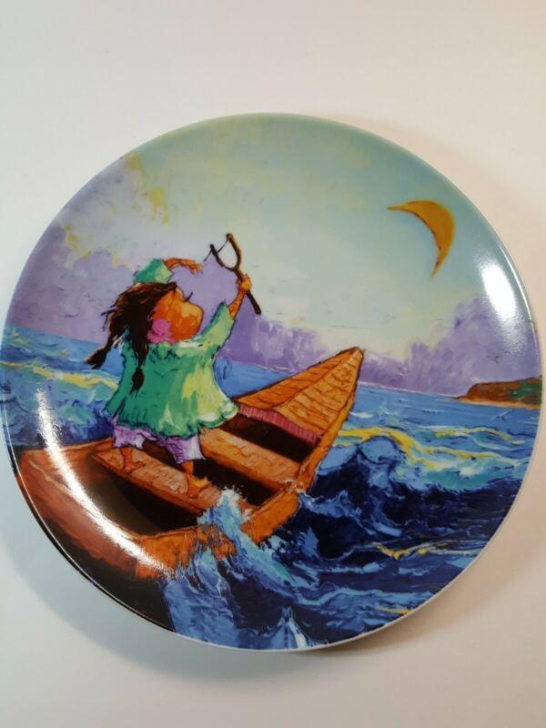 "Arte De Cafe Silvio Avila 8"" Round Serving Plate Dish Limited Edition"