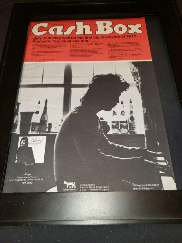 Billy Joel Cold Spring Harbor Rare Original Promo Poster Ad Framed!