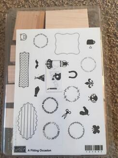 Stamping Up A Fitting Occassion Wooden Stamp Set Cammeray North Sydney Area Preview