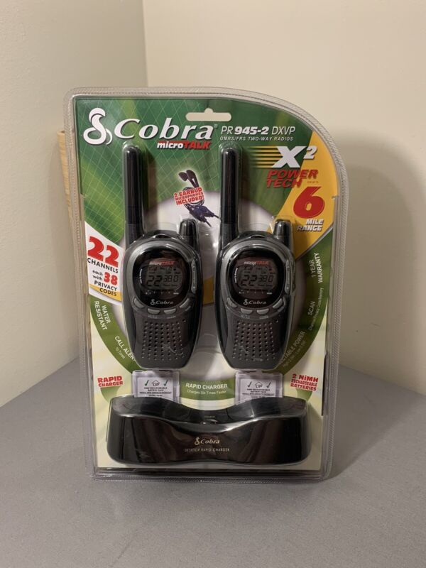 Cobra pr945-2 DXVP GMRS/FRS TWO-WAY Radios - 6 Mile Range!!