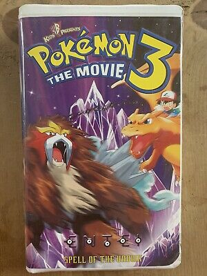 POKEMON 3 THE MOVIE KIDS WB PRESENTS 2001 VHS TAPE