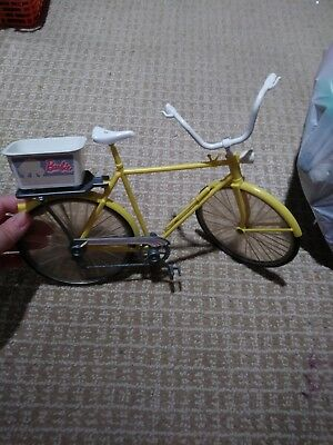 Vintage 1970's Malibu Barbie Doll Ten Speeder Yellow Bike Bicycle