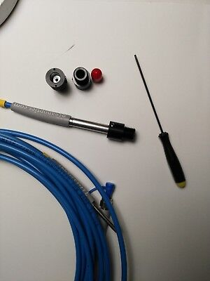 Uv-nir 185-2200nm Adjustable Fiber Collimator With 0.25 Smooth Bore For Probe
